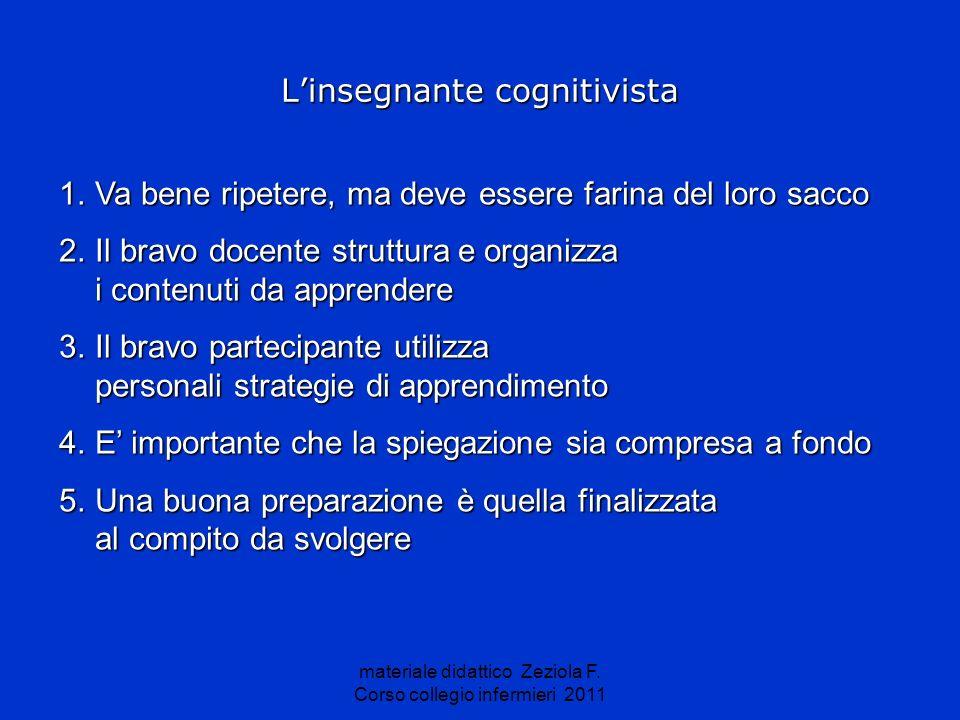 L'insegnante cognitivista