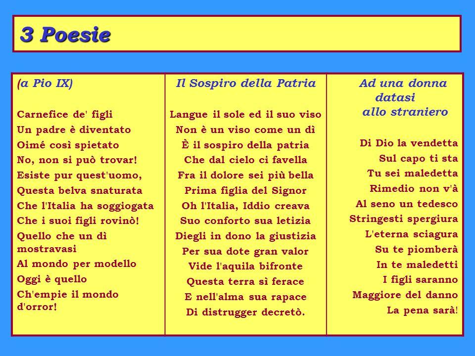 3 Poesie (a Pio IX) Il Sospiro della Patria