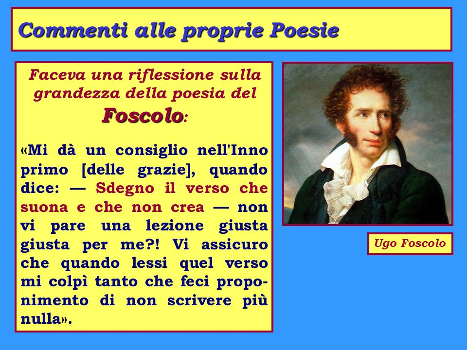 Commenti alle proprie Poesie