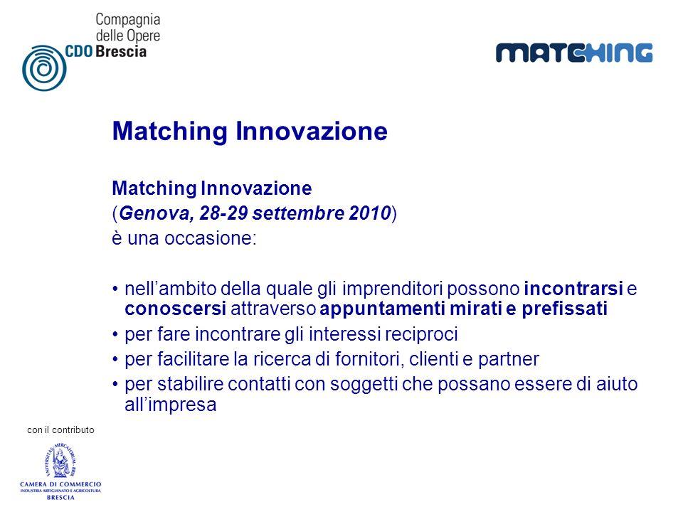 Matching Innovazione Matching Innovazione