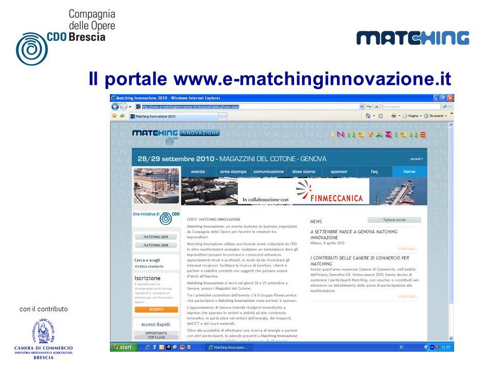 Il portale www.e-matchinginnovazione.it