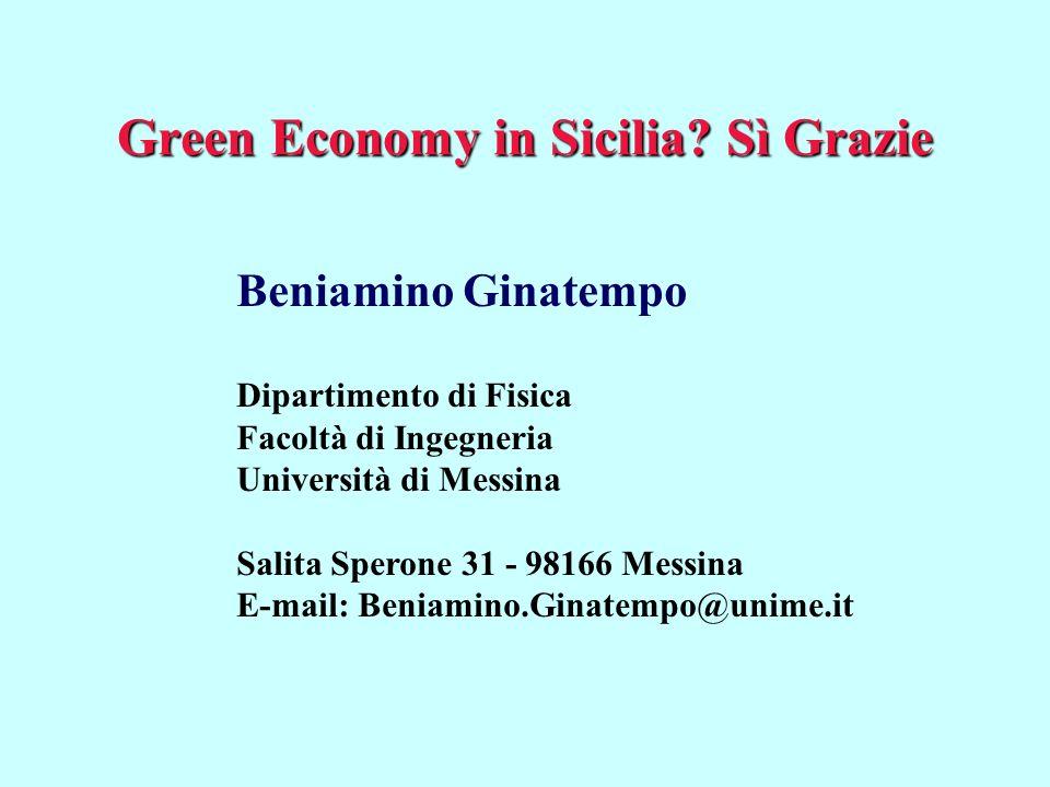 Green Economy in Sicilia Sì Grazie
