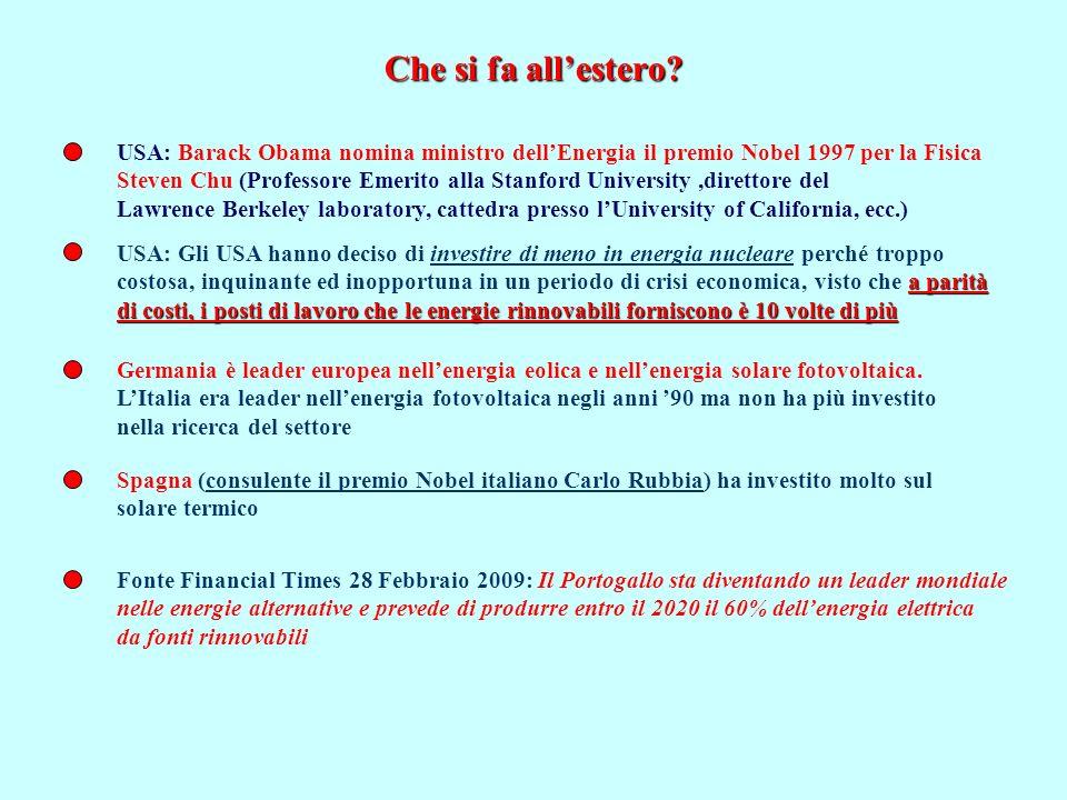 Che si fa all'estero USA: Barack Obama nomina ministro dell'Energia il premio Nobel 1997 per la Fisica.