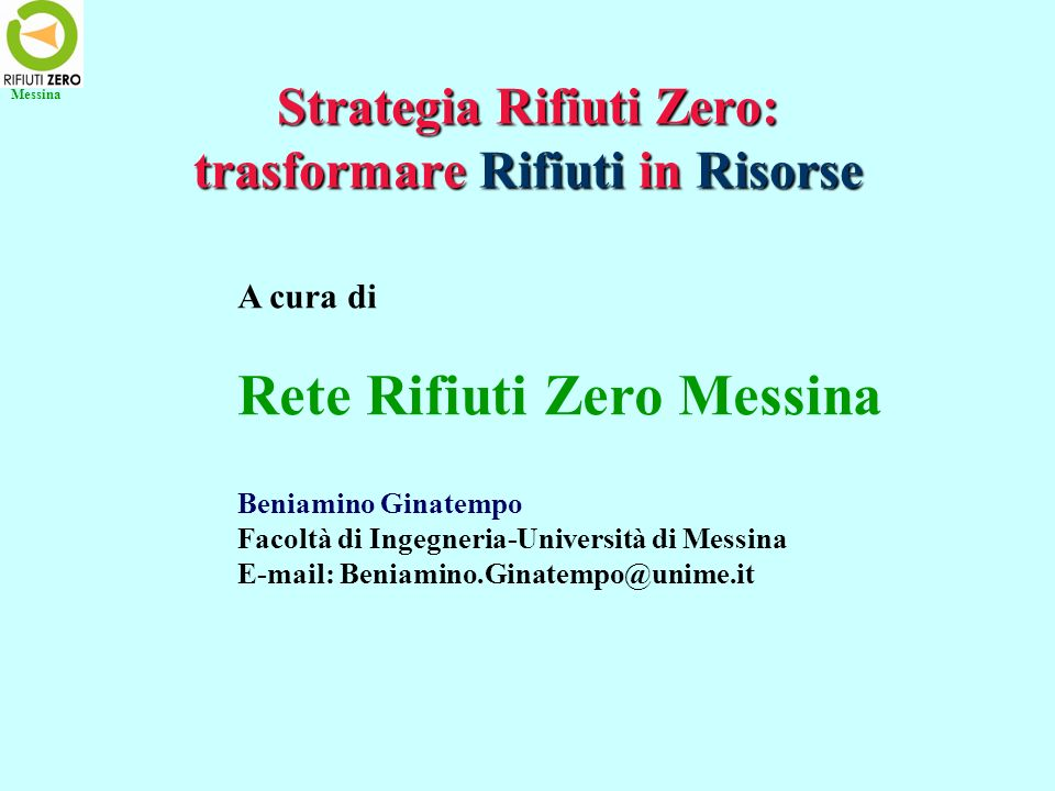 Strategia Rifiuti Zero: trasformare Rifiuti in Risorse