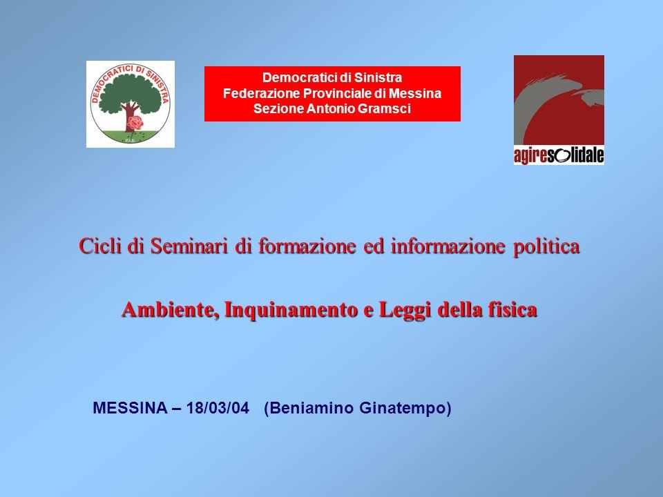 Cicli di Seminari di formazione ed informazione politica