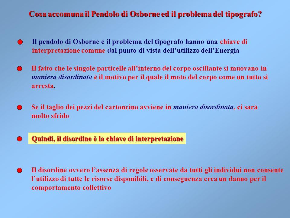 Cosa accomuna il Pendolo di Osborne ed il problema del tipografo