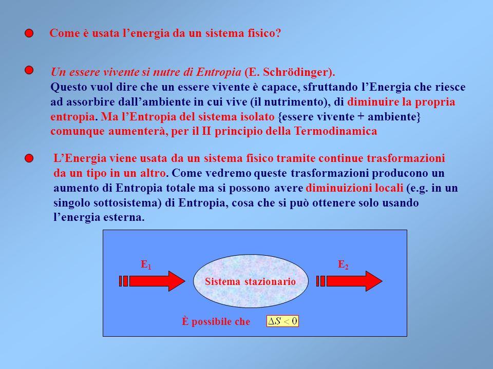 Come è usata l'energia da un sistema fisico