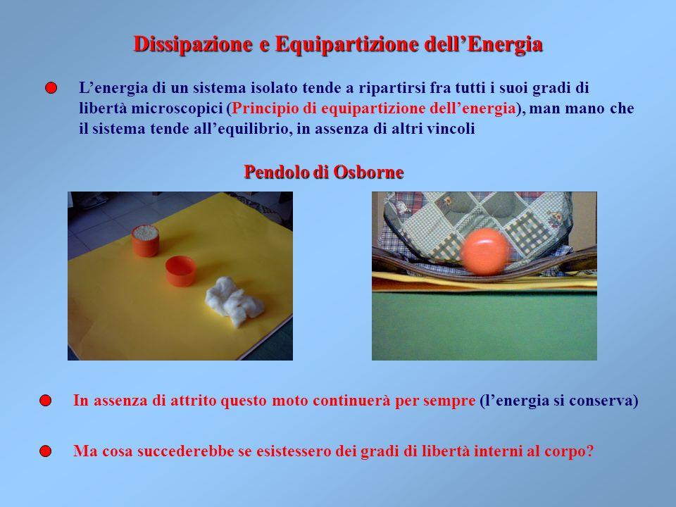 Dissipazione e Equipartizione dell'Energia