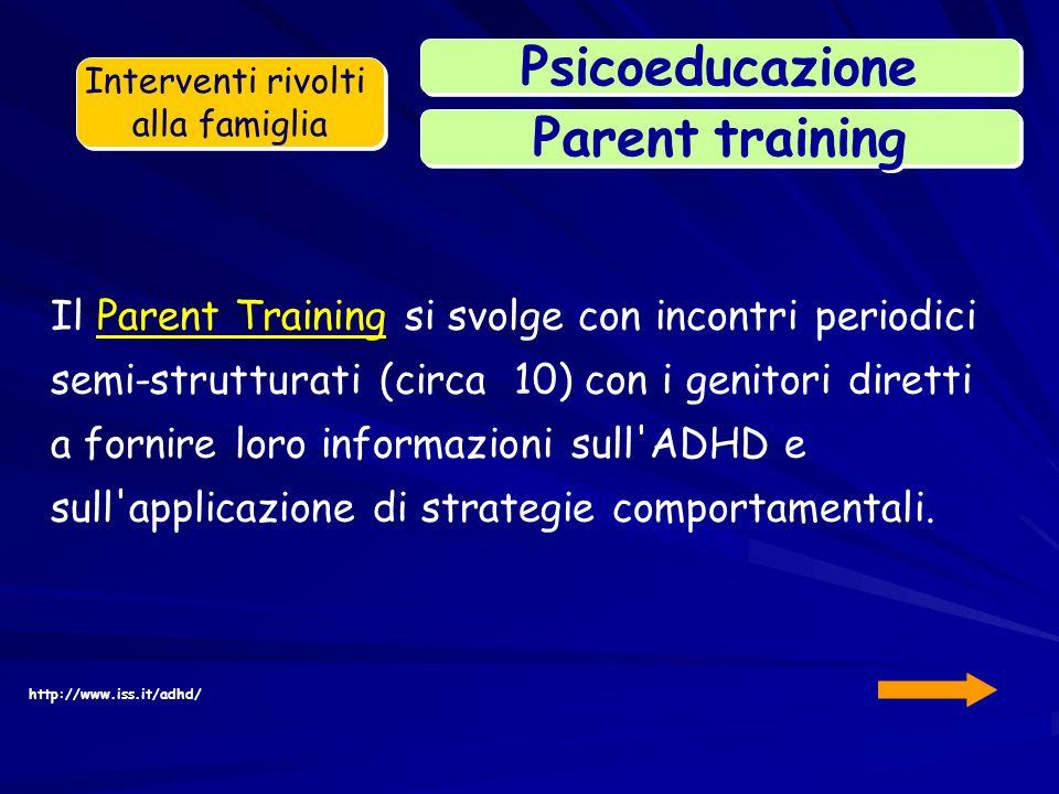 Parent training Psicoeducazione