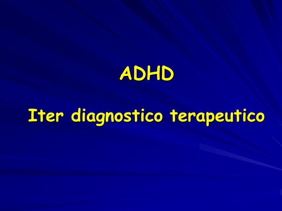 ADHD Iter diagnostico terapeutico