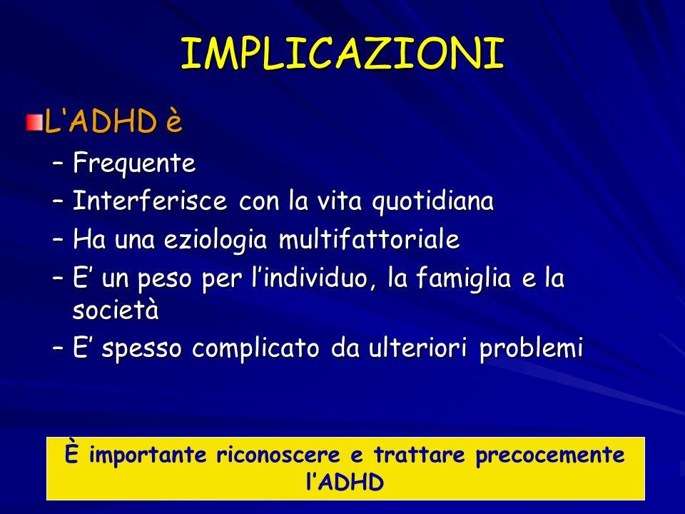 È importante riconoscere e trattare precocemente l'ADHD