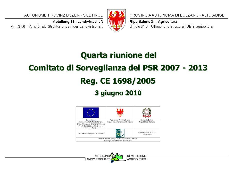 Comitato di Sorveglianza del PSR 2007 - 2013