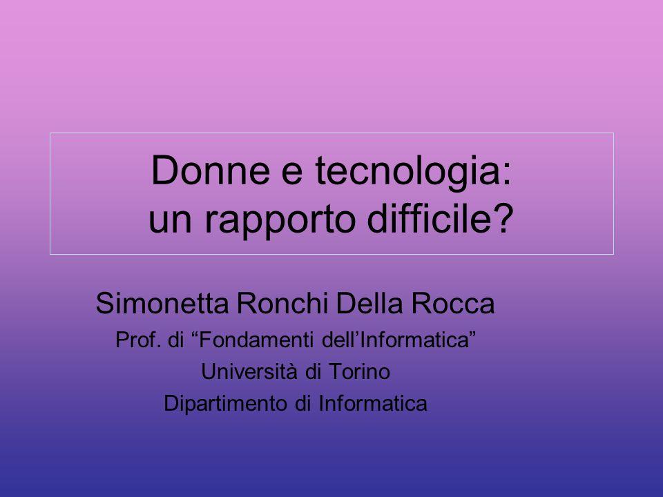 Donne e tecnologia: un rapporto difficile
