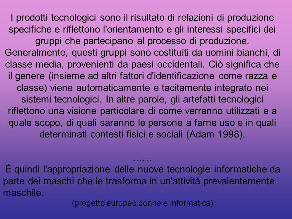 (progetto europeo donne e informatica)
