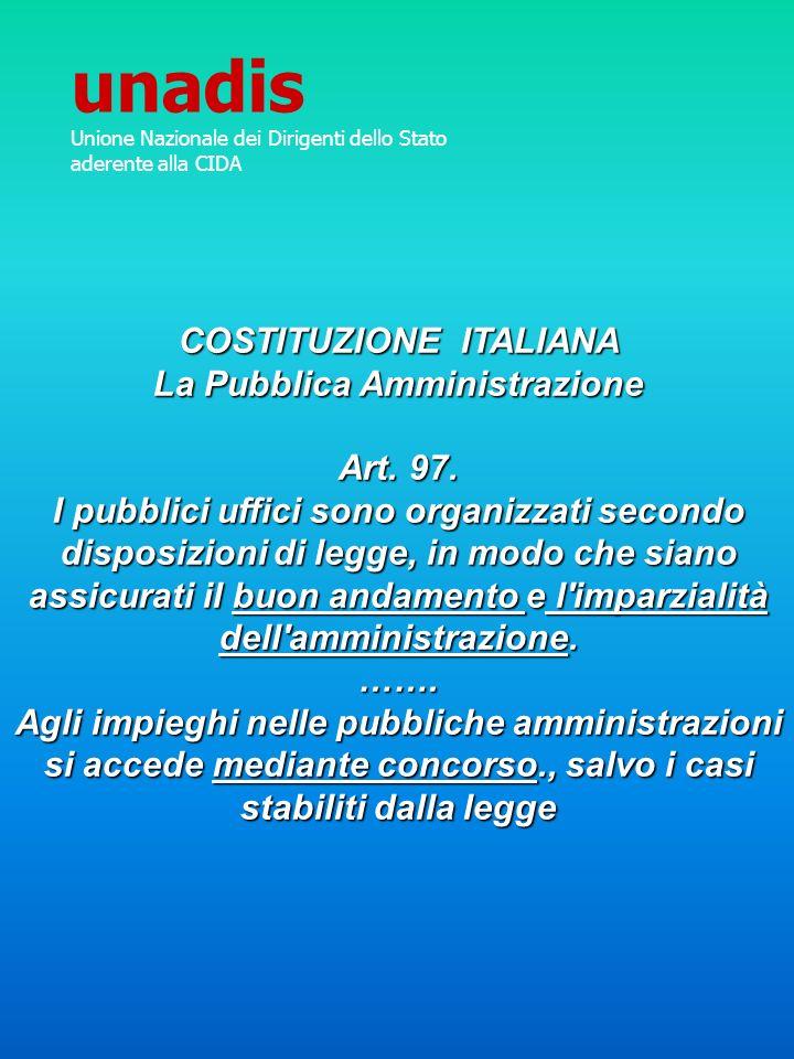 COSTITUZIONE ITALIANA La Pubblica Amministrazione