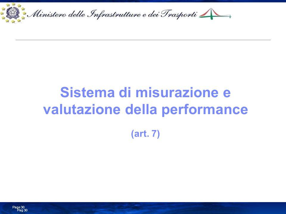 Sistema di misurazione e valutazione della performance (art. 7)