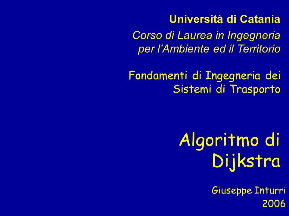 Algoritmo di Dijkstra Università di Catania