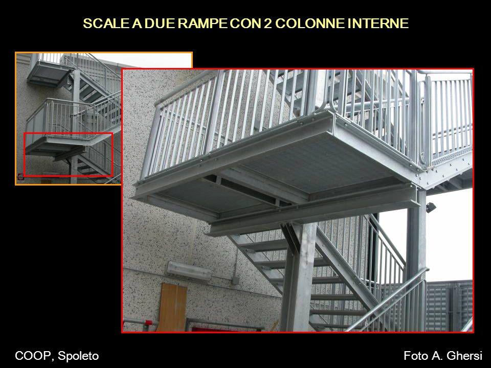 SCALE A DUE RAMPE CON 2 COLONNE INTERNE