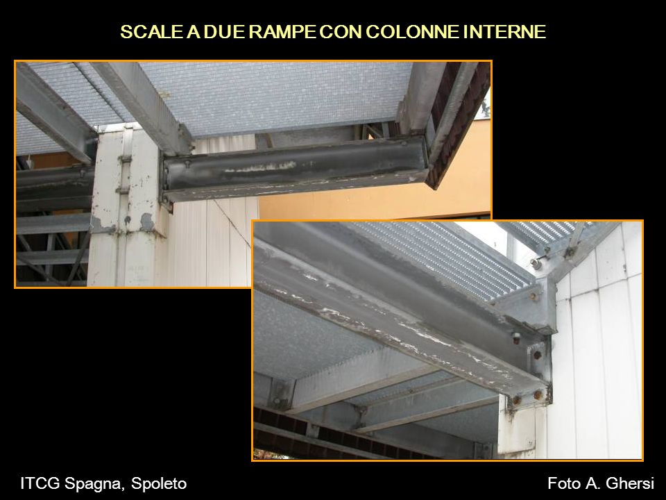 SCALE A DUE RAMPE CON COLONNE INTERNE