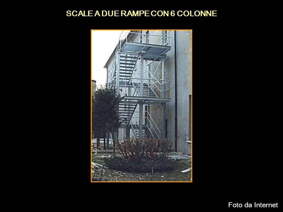 SCALE A DUE RAMPE CON 6 COLONNE