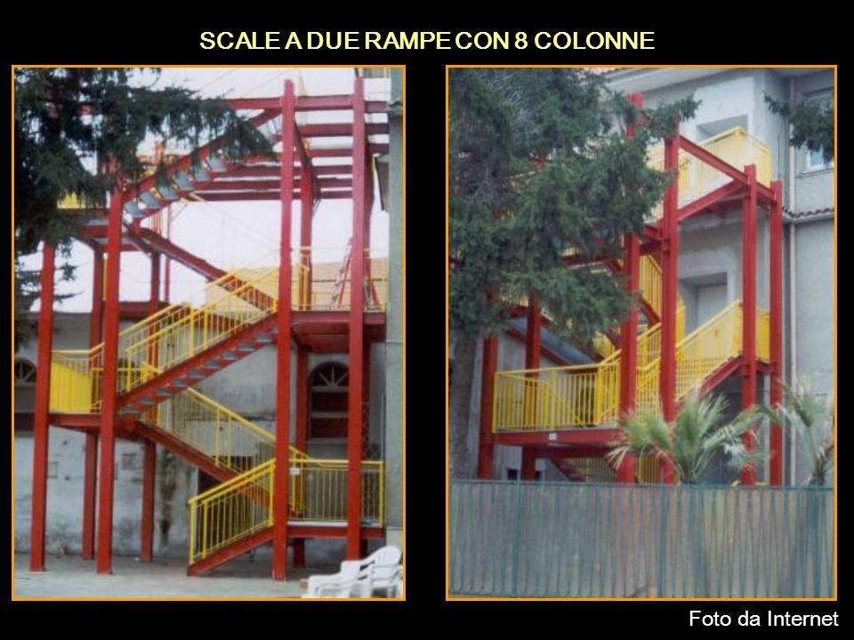 SCALE A DUE RAMPE CON 8 COLONNE