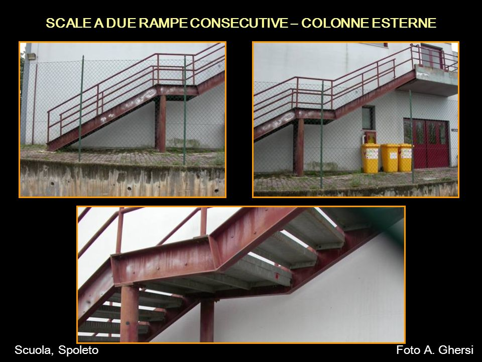 SCALE A DUE RAMPE CONSECUTIVE – COLONNE ESTERNE