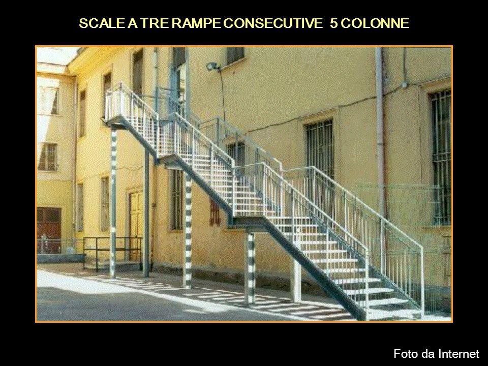 SCALE A TRE RAMPE CONSECUTIVE 5 COLONNE
