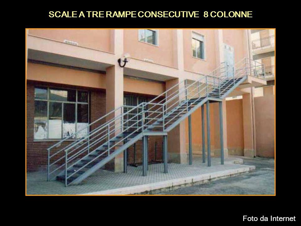 SCALE A TRE RAMPE CONSECUTIVE 8 COLONNE