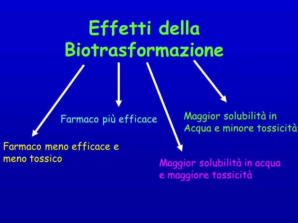 Effetti della Biotrasformazione
