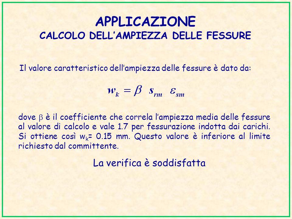 APPLICAZIONE CALCOLO DELL'AMPIEZZA DELLE FESSURE