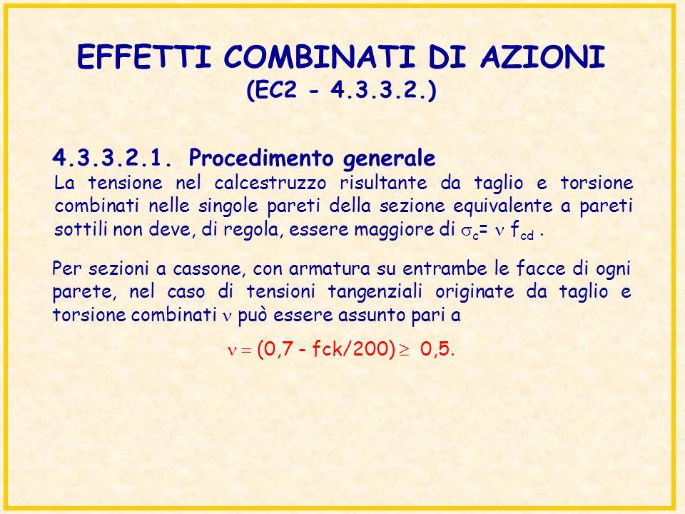 EFFETTI COMBINATI DI AZIONI (EC2 - 4.3.3.2.)