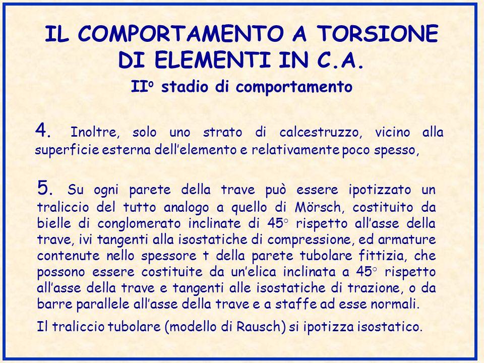 IL COMPORTAMENTO A TORSIONE DI ELEMENTI IN C.A.