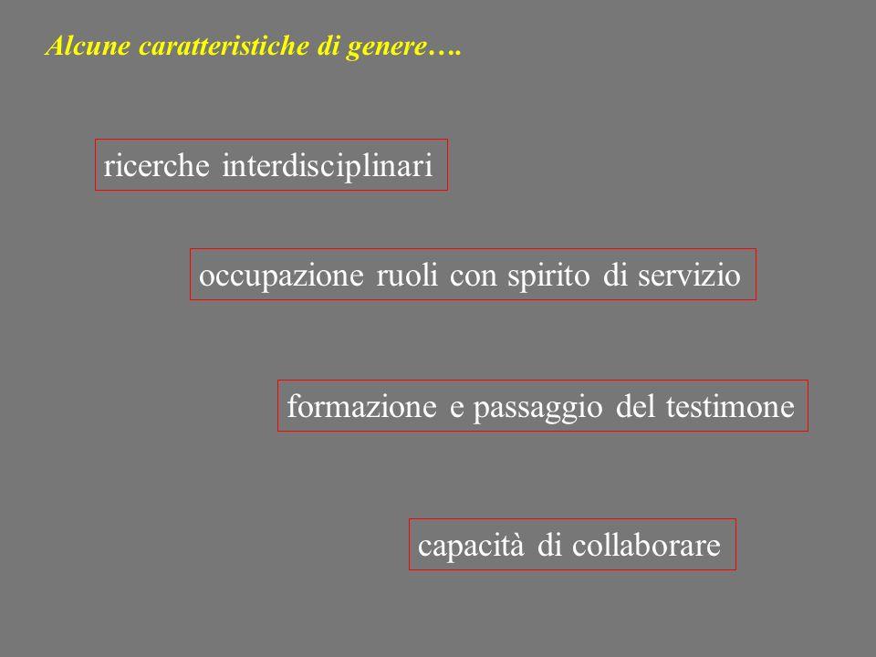 ricerche interdisciplinari