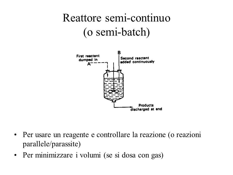 Reattore semi-continuo (o semi-batch)