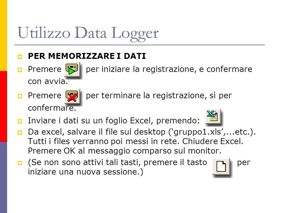 Utilizzo Data Logger PER MEMORIZZARE I DATI