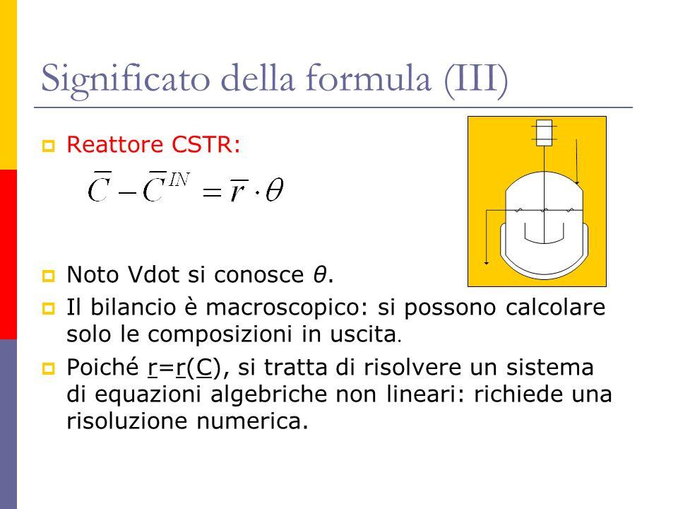 Significato della formula (III)