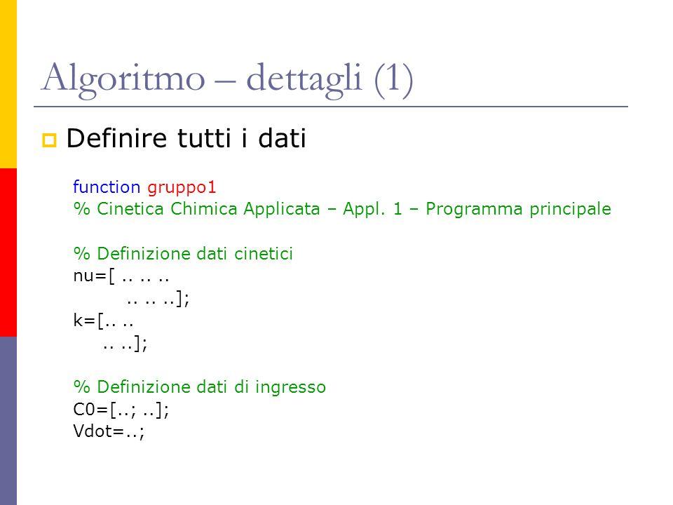 Algoritmo – dettagli (1)