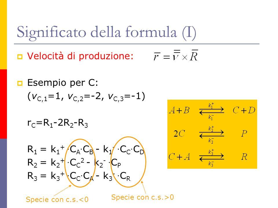 Significato della formula (I)