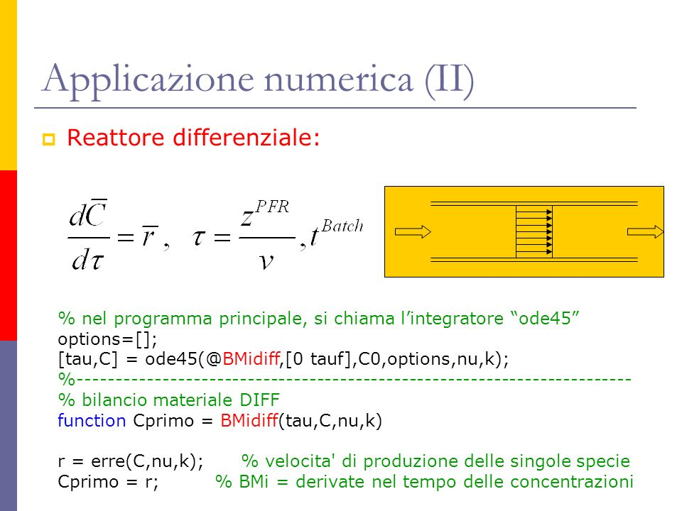 Applicazione numerica (II)