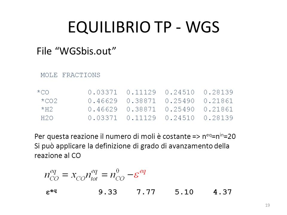 EQUILIBRIO TP - WGS File WGSbis.out