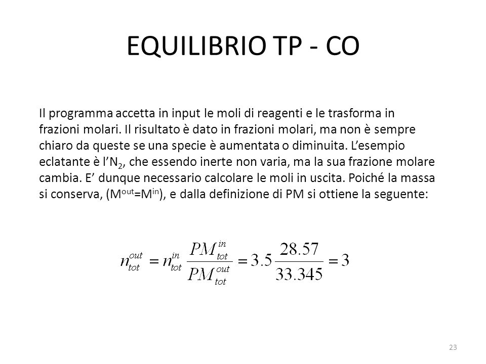 EQUILIBRIO TP - CO