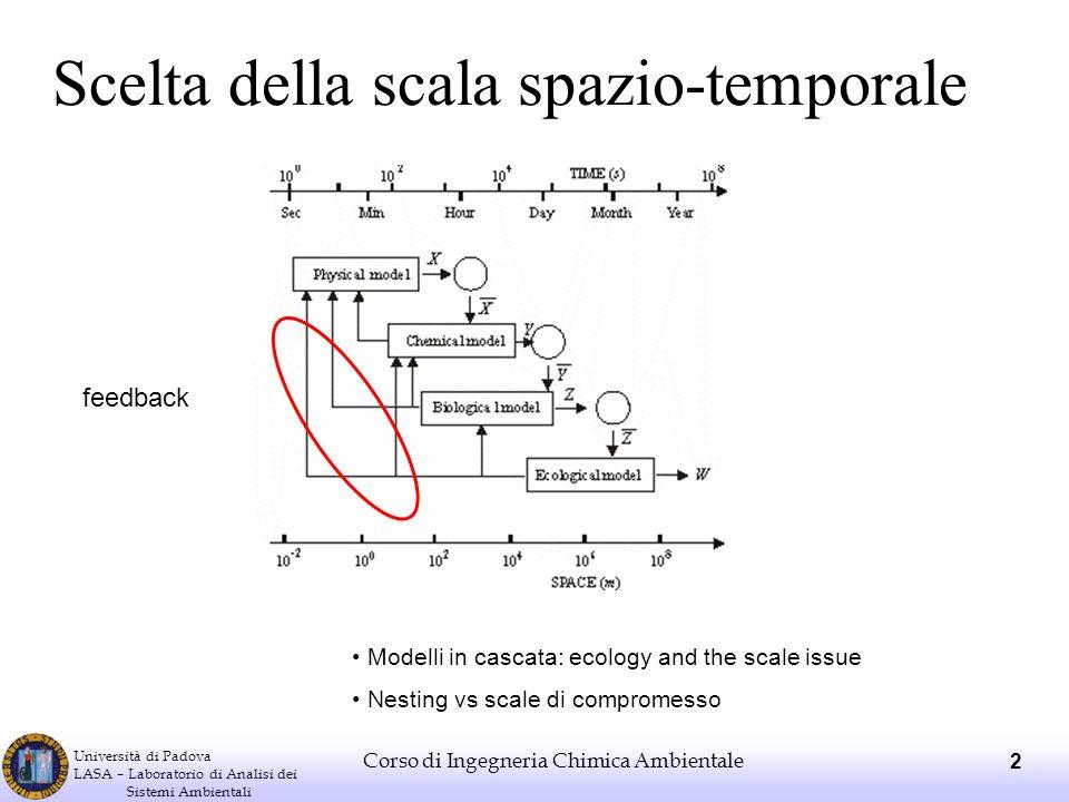 Scelta della scala spazio-temporale