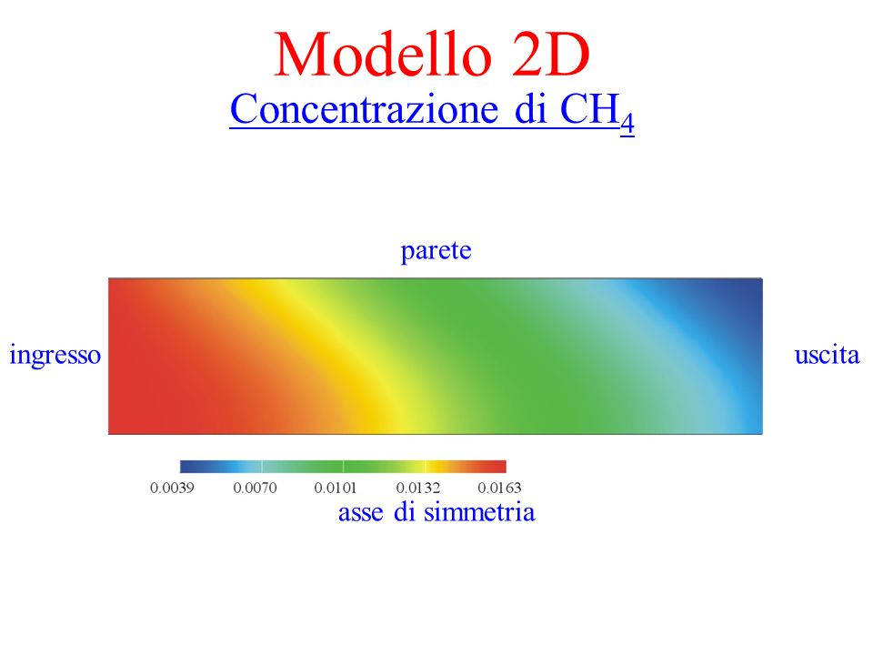 Modello 2D Concentrazione di CH4