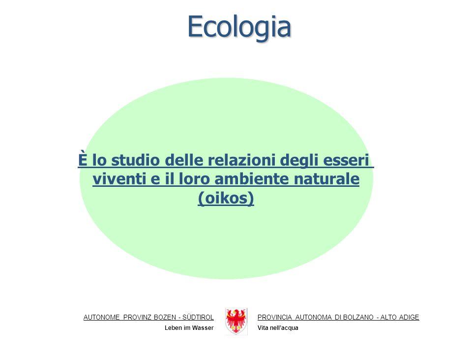 Ecologia È lo studio delle relazioni degli esseri