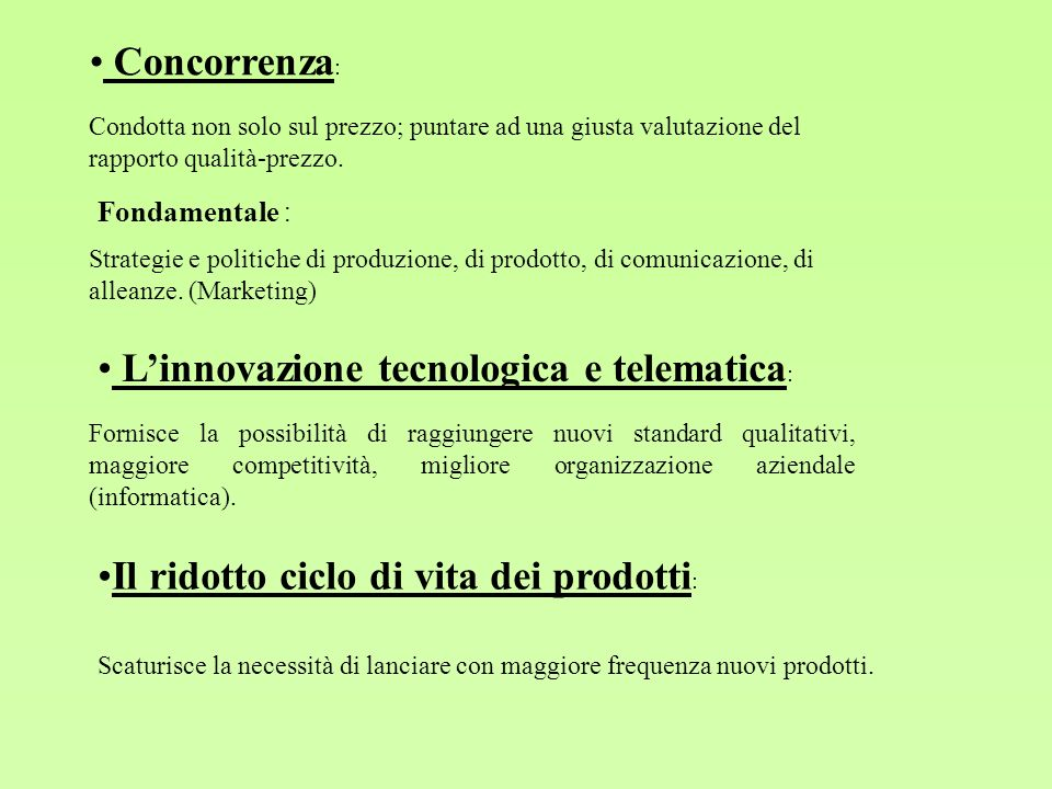 L'innovazione tecnologica e telematica: