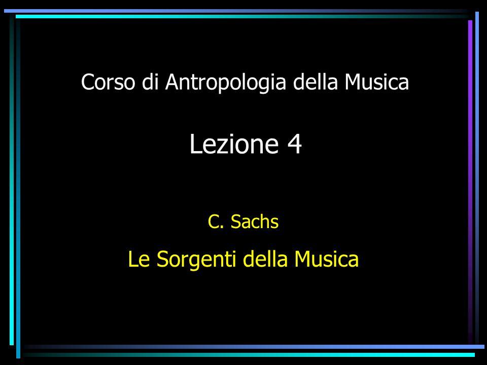 Corso di Antropologia della Musica Lezione 4