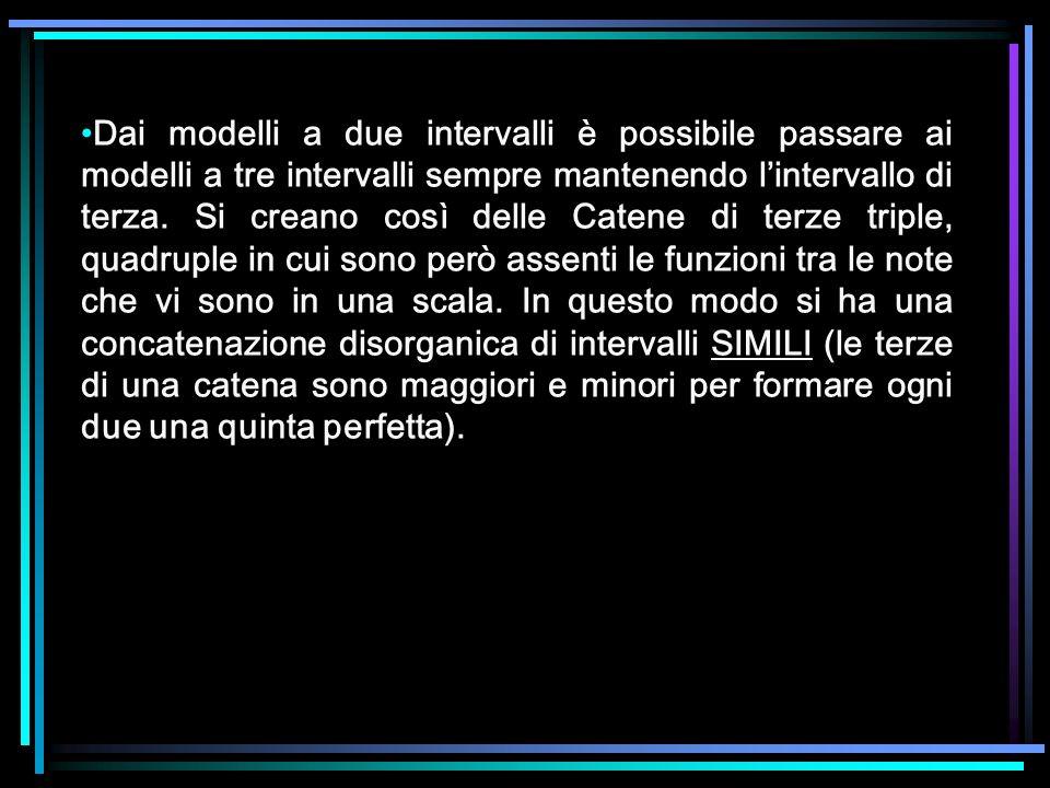 Dai modelli a due intervalli è possibile passare ai modelli a tre intervalli sempre mantenendo l'intervallo di terza.