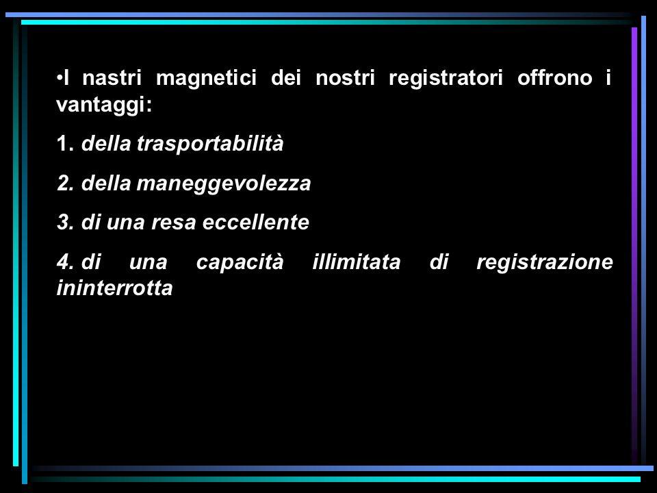 I nastri magnetici dei nostri registratori offrono i vantaggi: