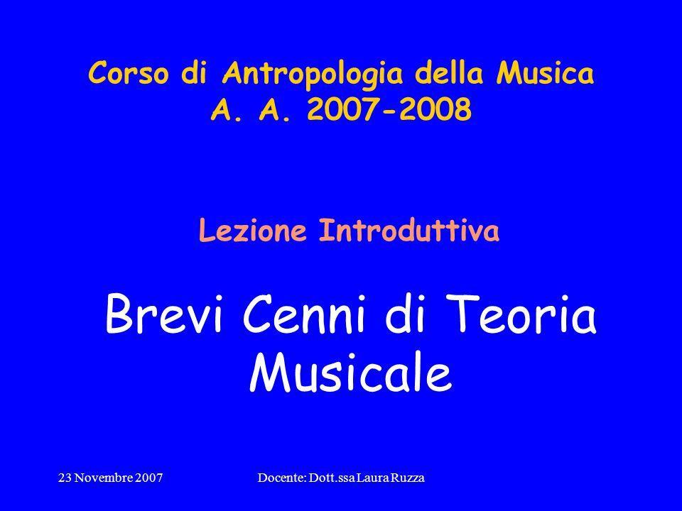 Corso di Antropologia della Musica A. A. 2007-2008