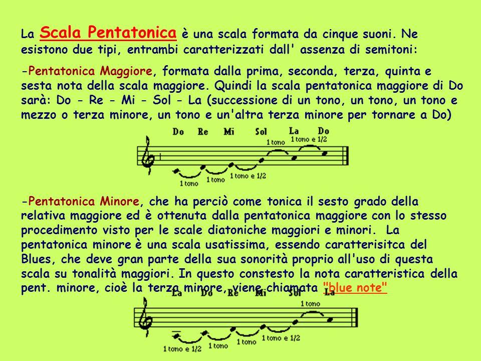 La Scala Pentatonica è una scala formata da cinque suoni